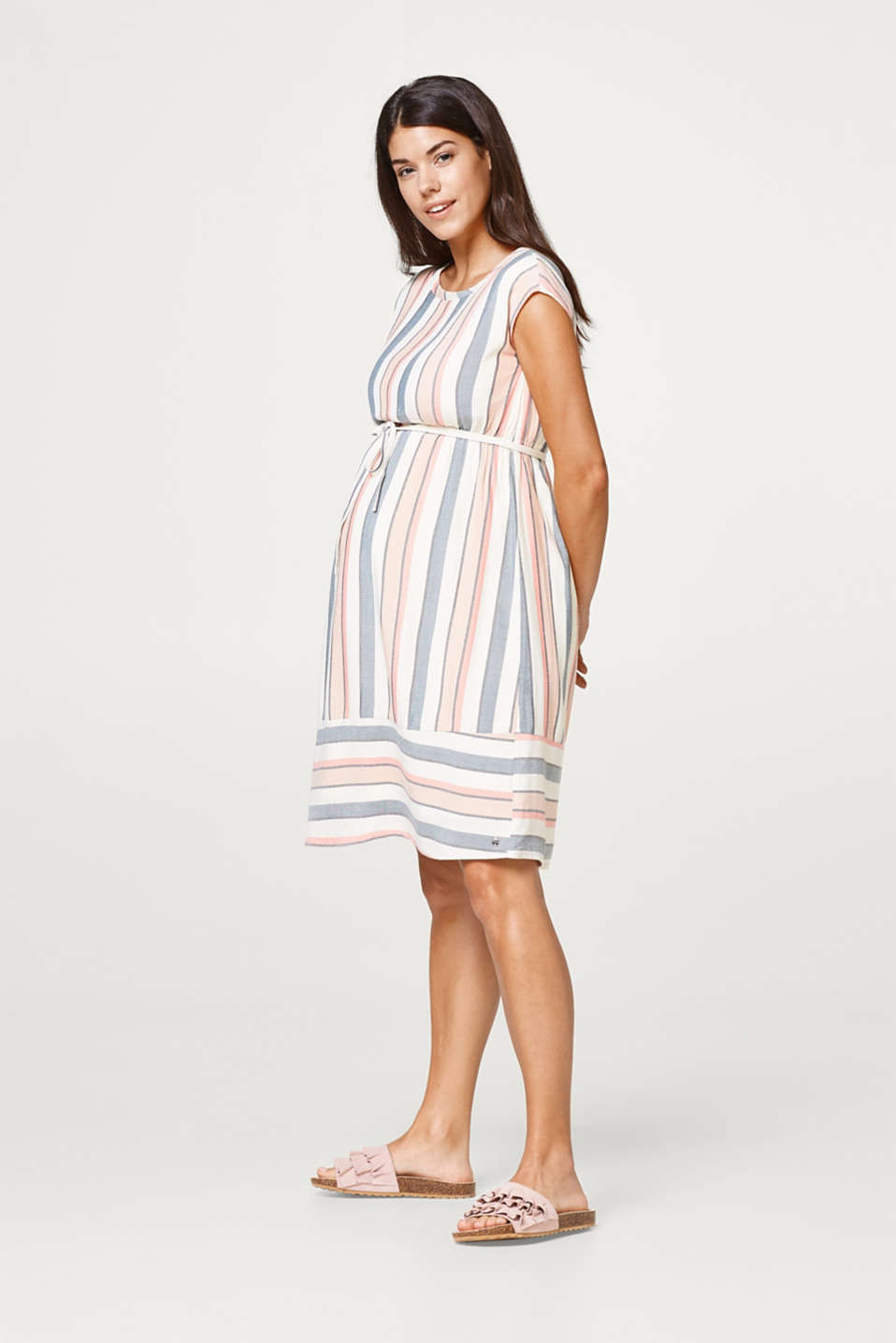 Striped summer dress + cotton lining