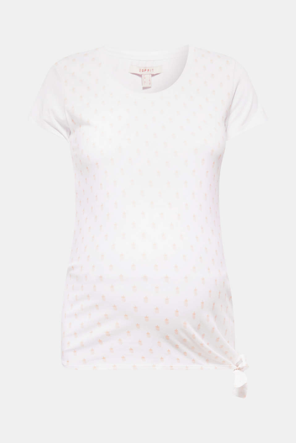 Esprit - Cotton maternity top with a pineapple print