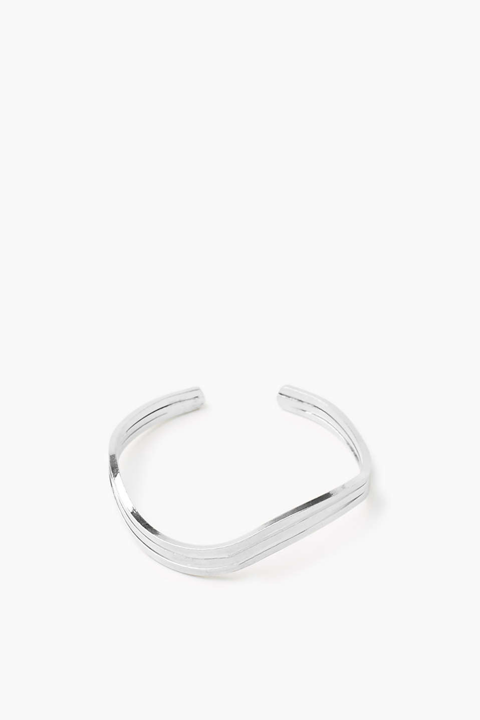 In a minimalist design: open bracelet in high-quality metal alloy