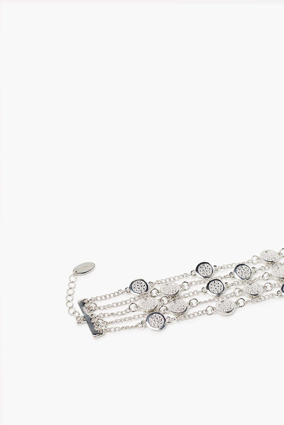 Multi-strand bracelet made from silver metal