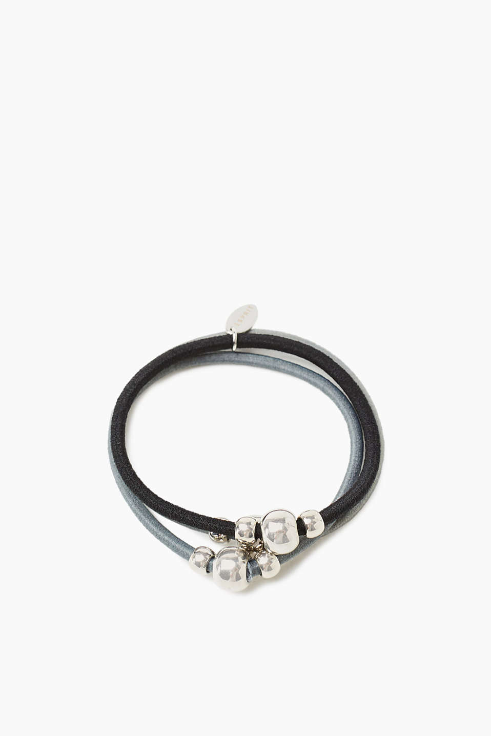 Esprit - Bracelet/hair tie with metal balls