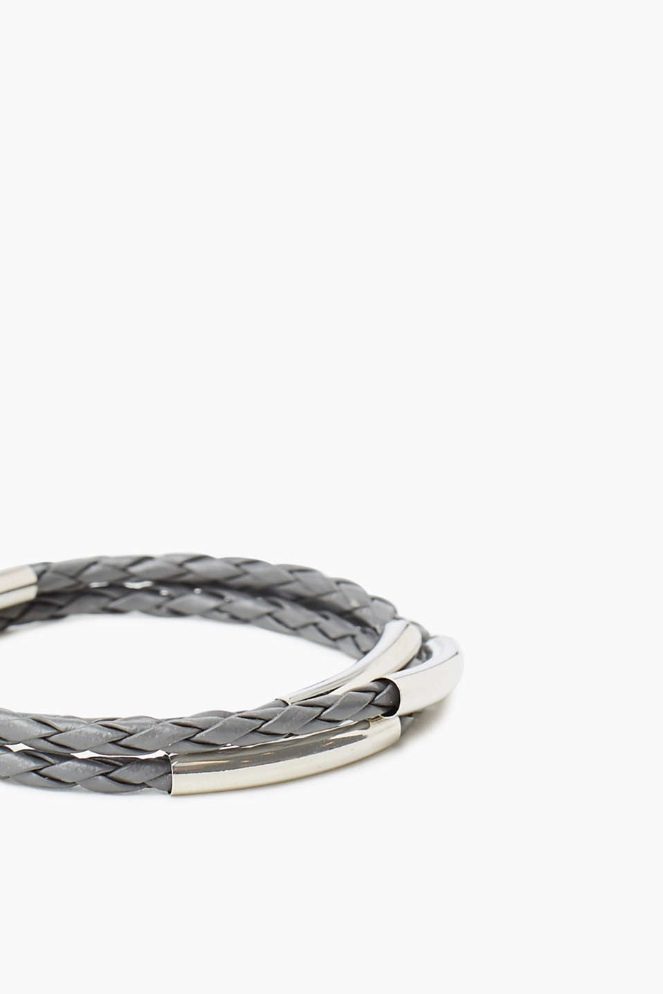 3-strand bracelet in braided faux leather