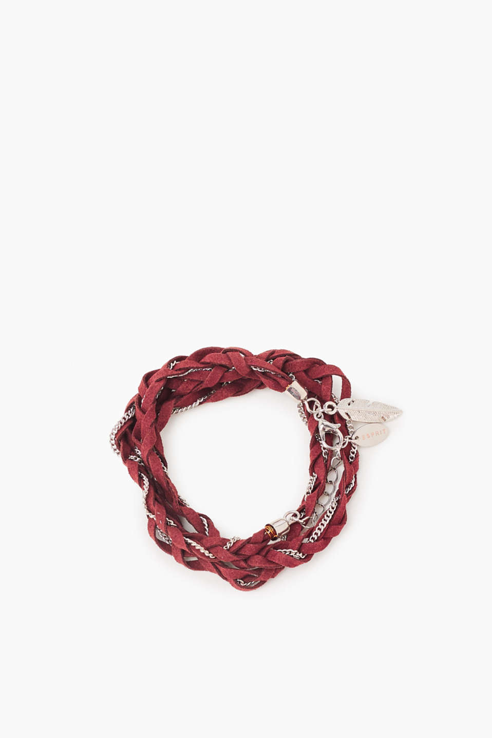Esprit - Braided bracelet in faux leather