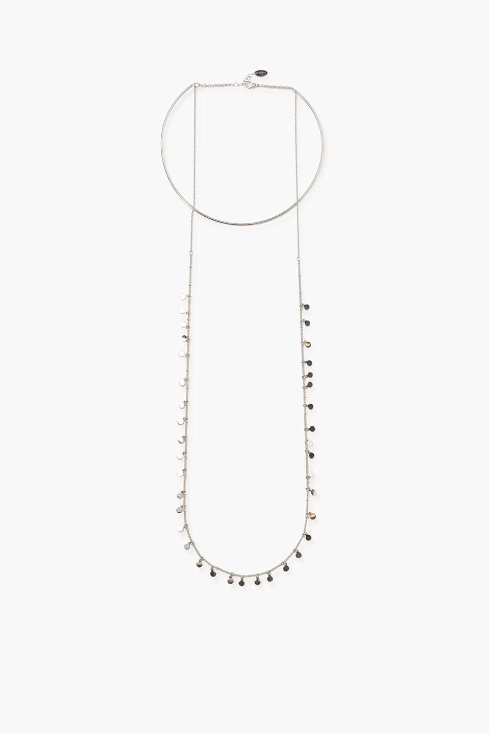 Esprit - Neck ring with a long metal chain