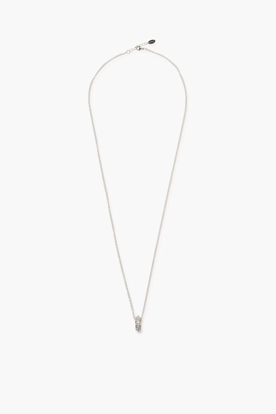 Esprit - Long necklace with zirconia rings