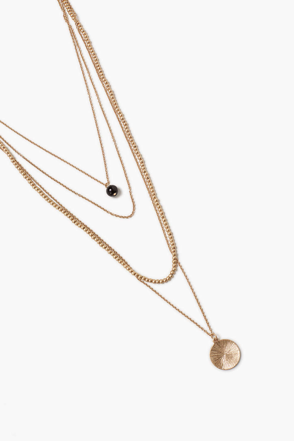 4-in-1 multi-layer necklace in gold-tone metal