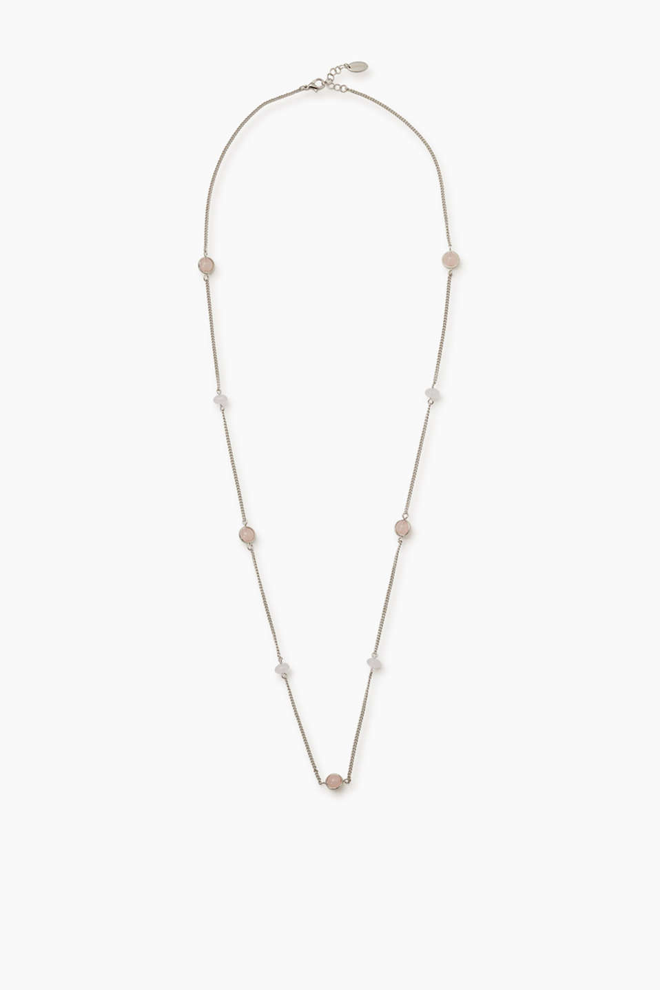 Long necklace with glass beads