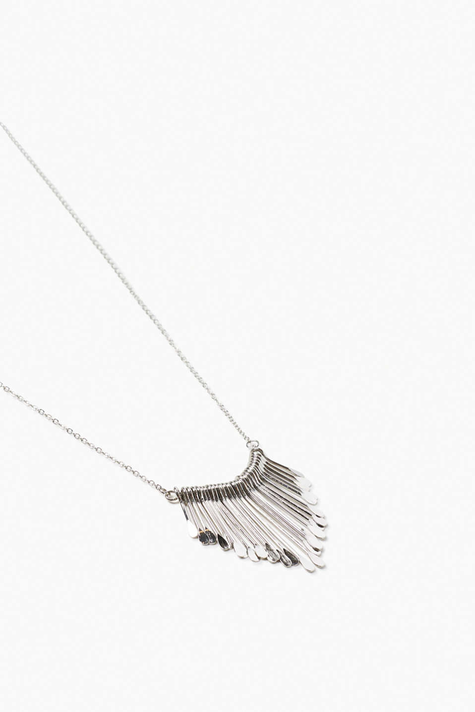Long hippie-style metal necklace