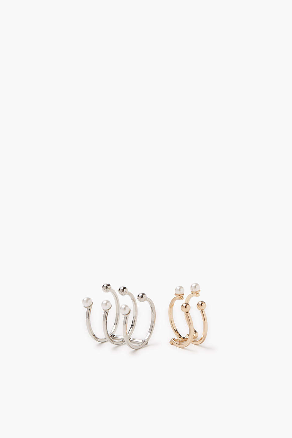 Set of two statement rings