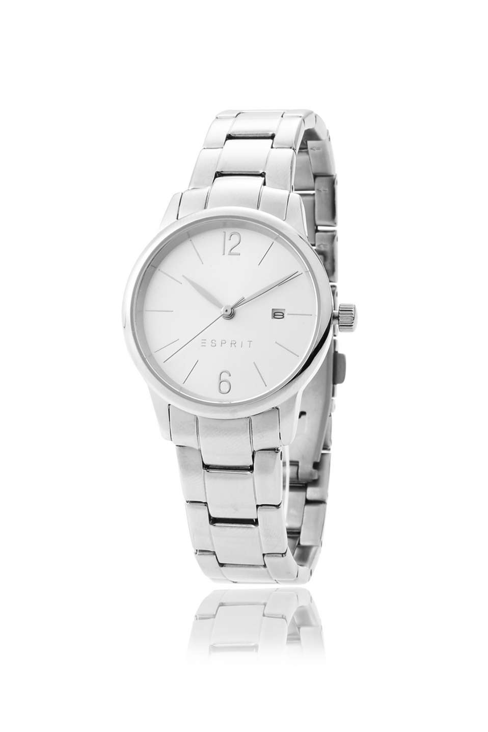 Esprit - stainless-steel watch, date and metal strap