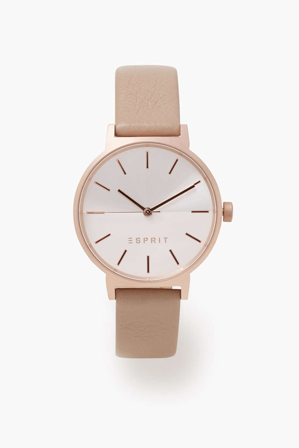 Esprit - Watch with a matte casing in rose gold