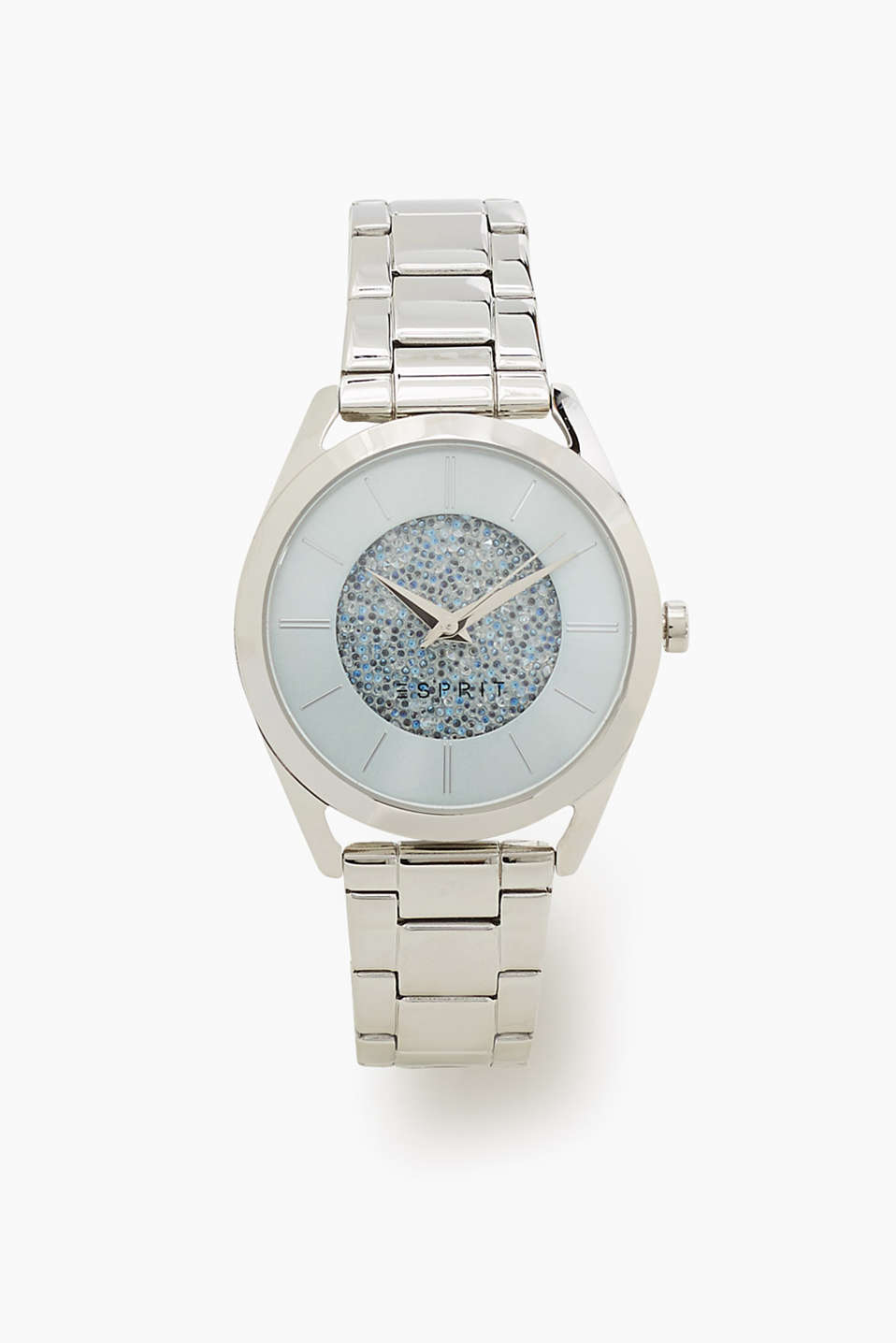 Stainless steel watch in a timeless silver tone