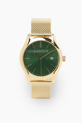 Stainless steel watch with a Milanese strap, GOLD, detail