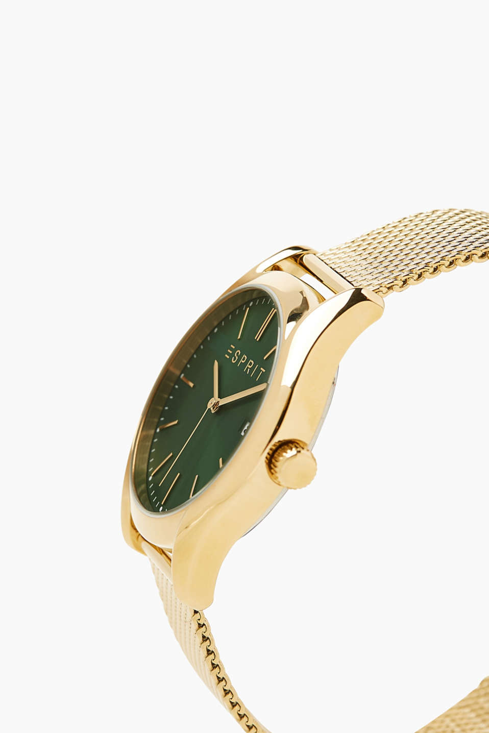 Stainless steel watch with a Milanese strap, GOLD, detail image number 1