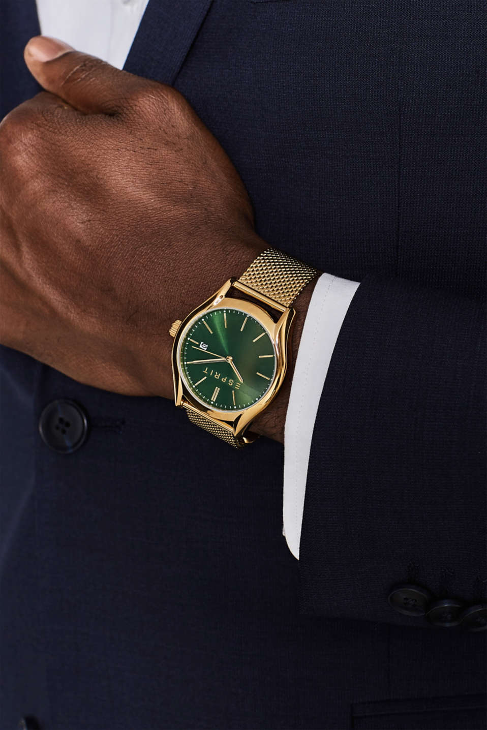 Stainless steel watch with a Milanese strap, GOLD, detail image number 2