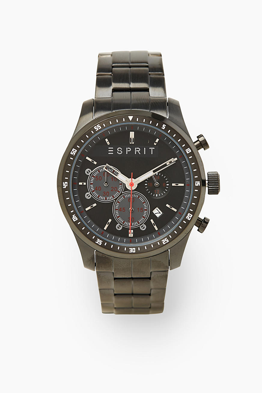 Sporty stainless steel chrono