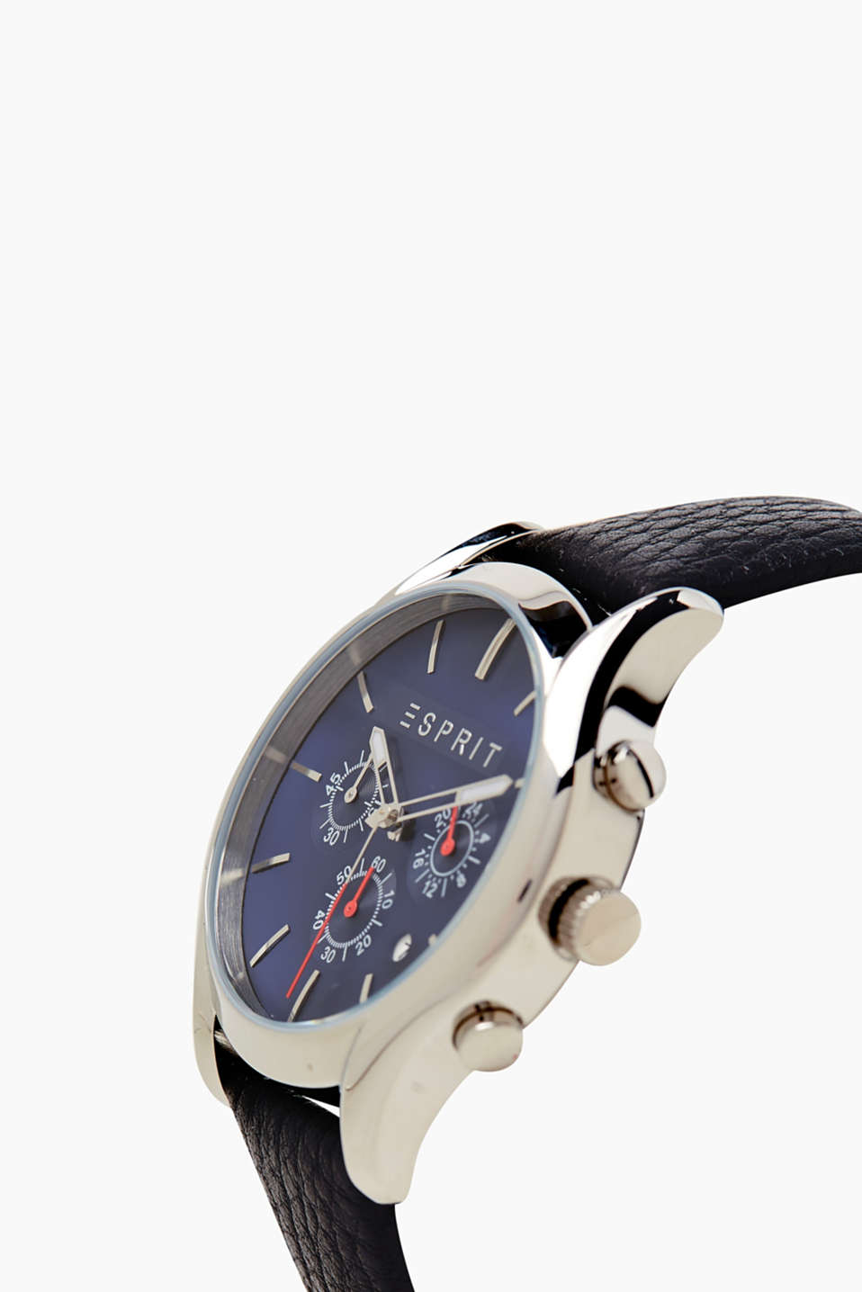 Mens chrono with a leather strap