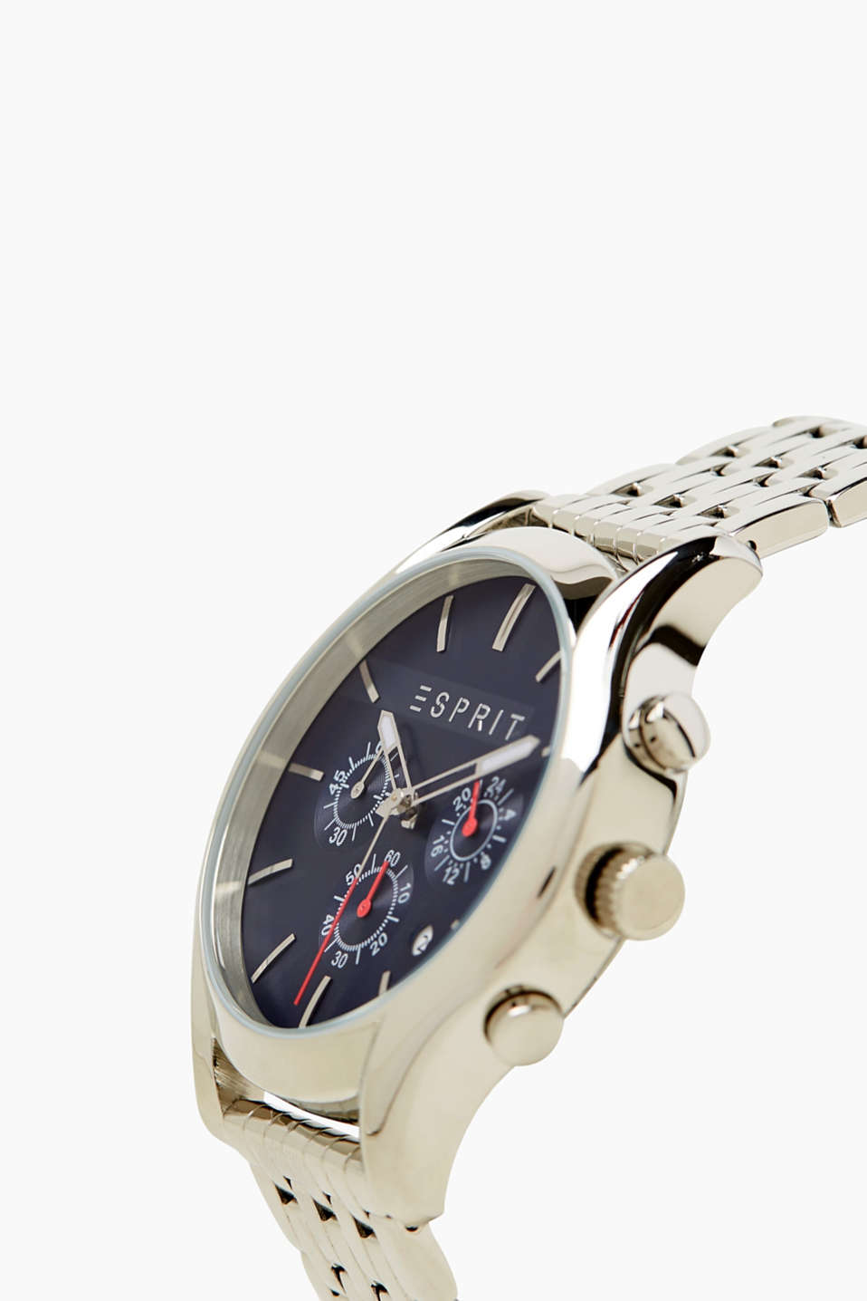 Modern mens watch in stainless steel