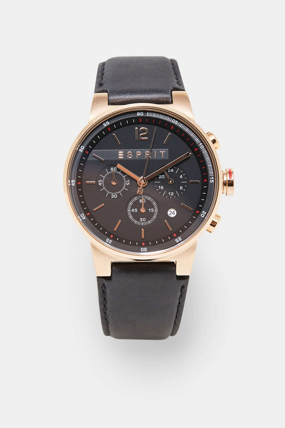Chronograph in modern rose gold, ROSEGOLD, detail image number 0