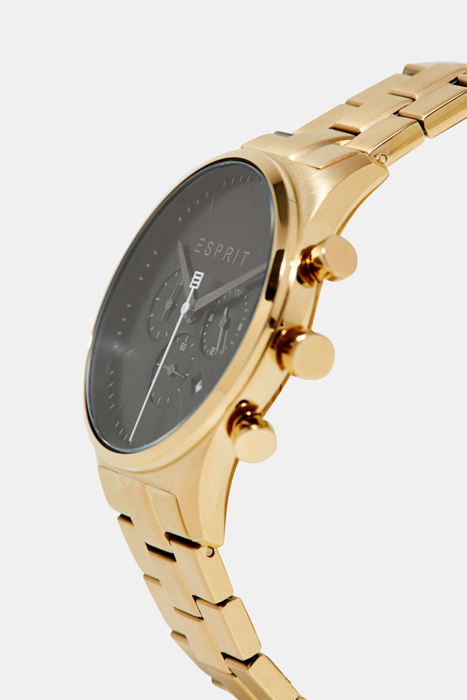 Stainless-steel chronograph, GOLD, detail image number 1