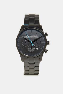 Sporty men's chronograph watch, BLACK, detail
