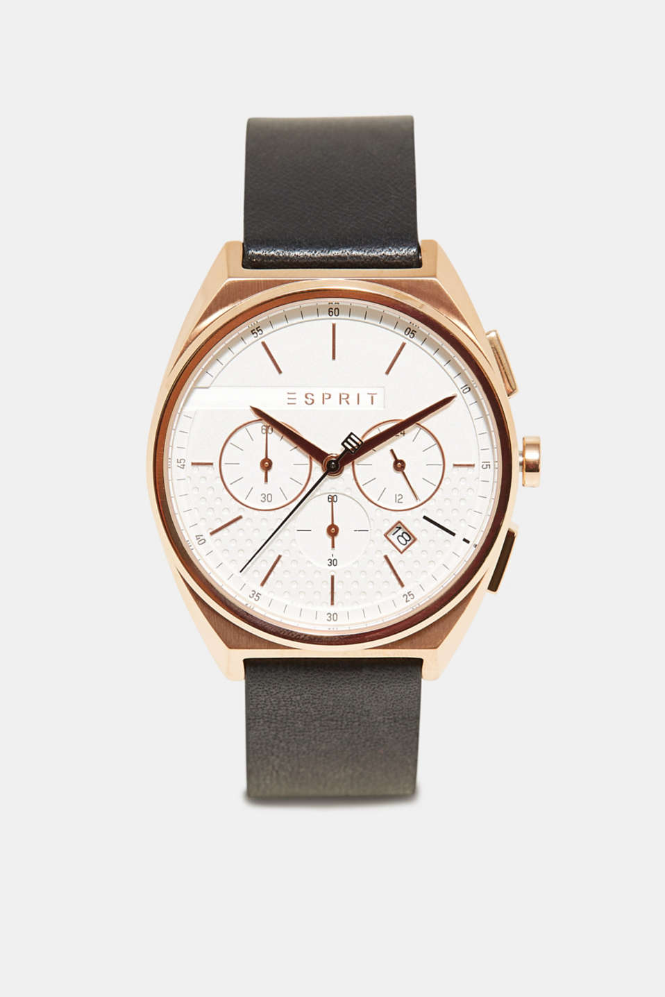Esprit - Mens chrono with a perforated dial