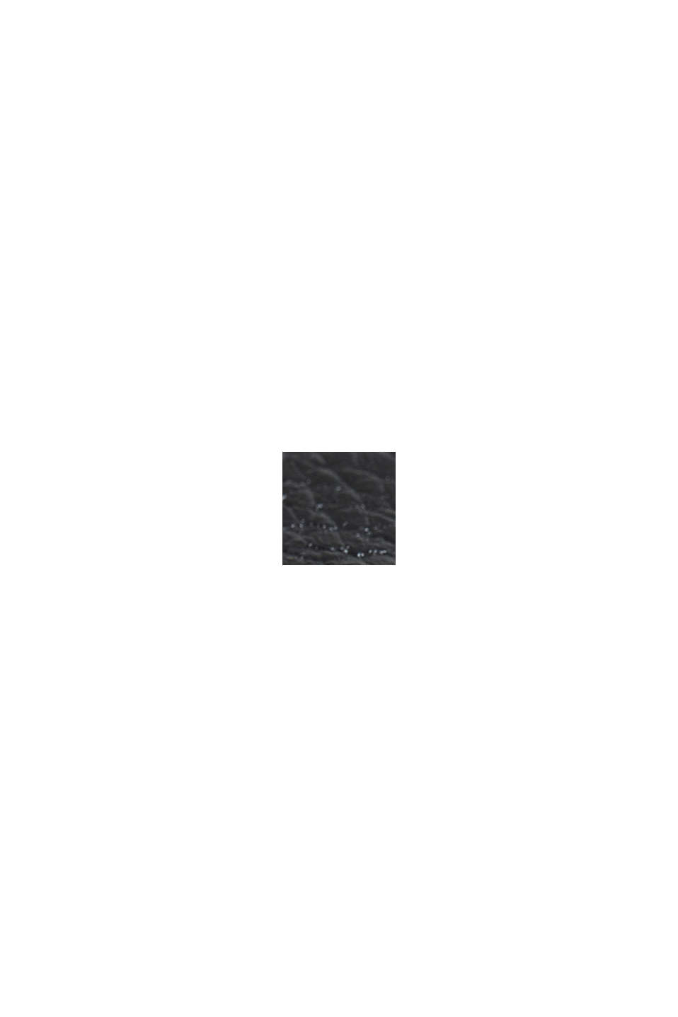 Edelstahl-Chronograph mit Leder-Armband, BLACK, swatch