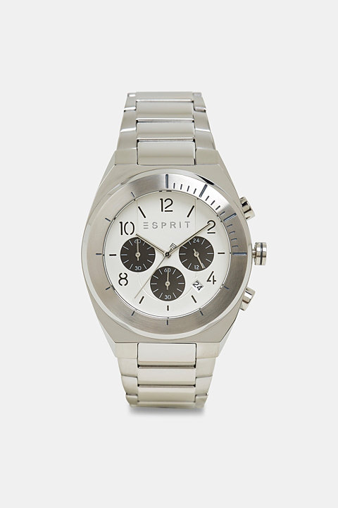 Stainless steel chronograph with a link bracelet
