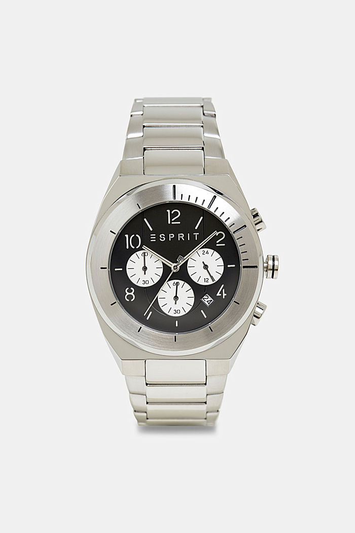 Stainless-steel chronograph