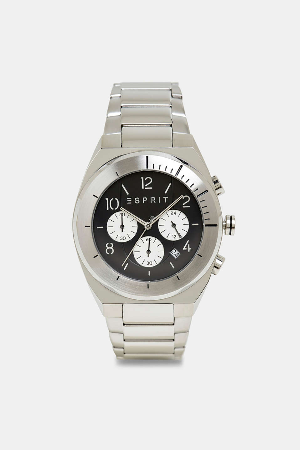 Stainless-steel chronograph, SILVER, detail image number 0