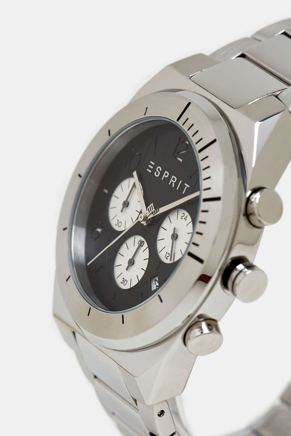 Stainless-steel chronograph, SILVER, detail image number 1