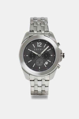 Stainless steel chronograph with a link bracelet, SILVER, detail