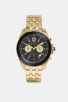 Stainless steel chronograph with a link bracelet, GOLD, detail