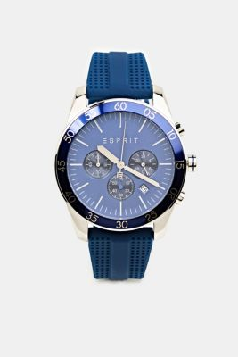 Stainless steel chronograph with a rubber strap, LCBLUE, detail