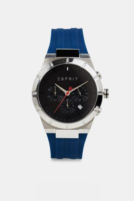 Chronograph with a silicone strap, LCBLUE, detail