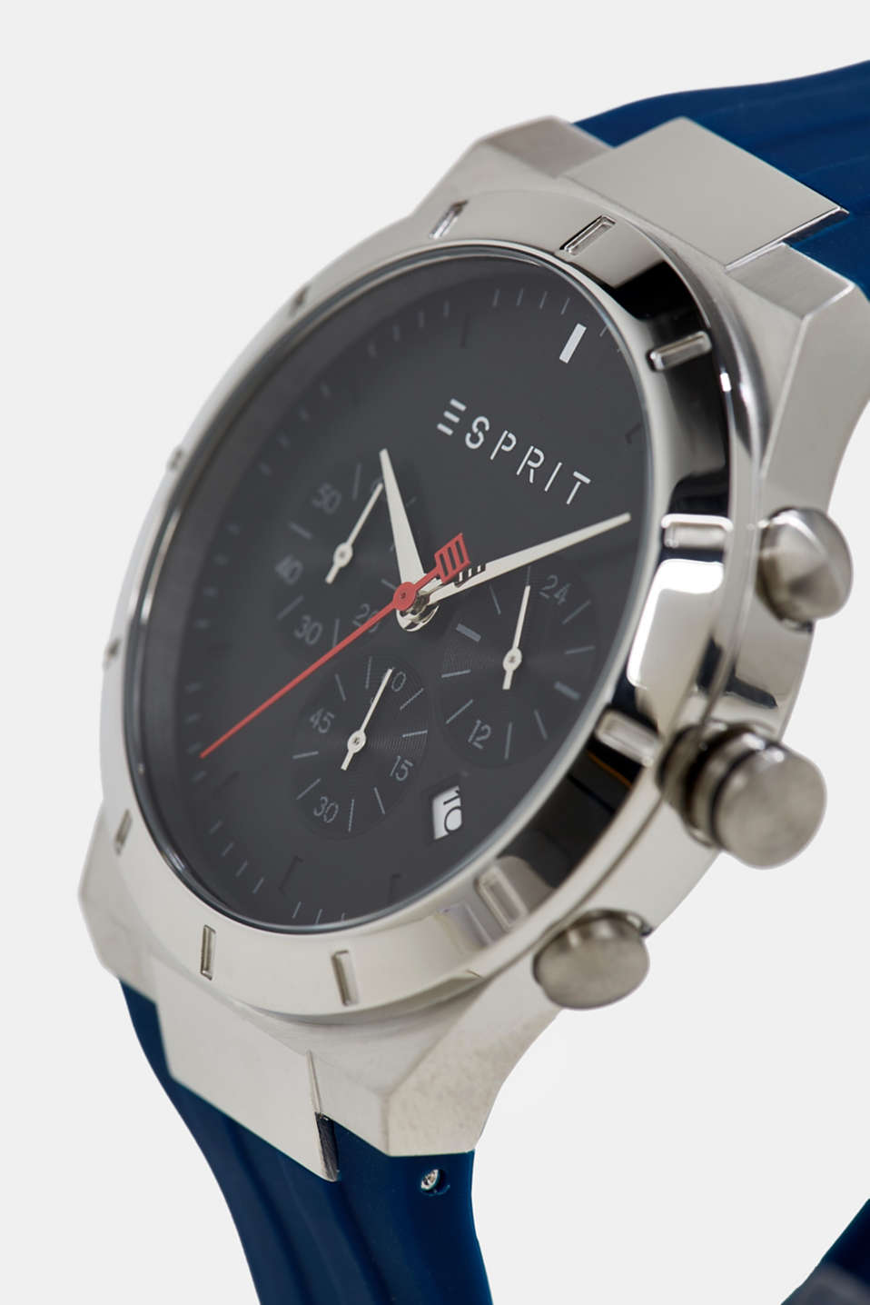 Multi-functional watch with a rubber strap, LCBLUE, detail image number 1