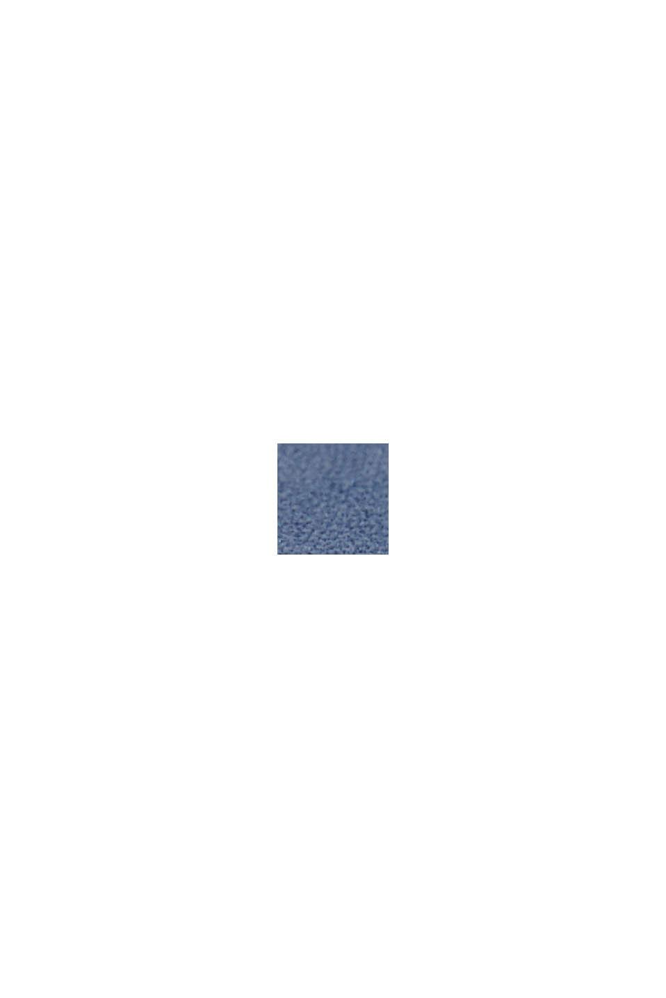 Edelstahl-Chronograph mit Leder-Armband, BLUE, swatch