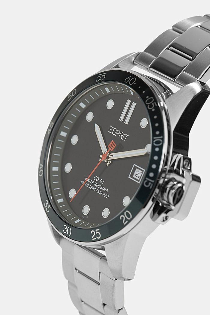 Cronografo in acciaio inossidabile, SILVER, detail image number 1