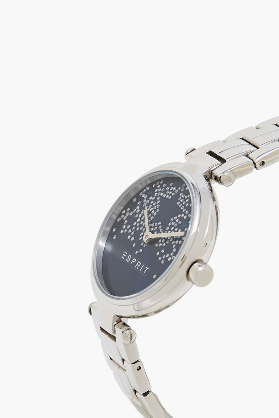 Stainless steel watch + an embellished dial
