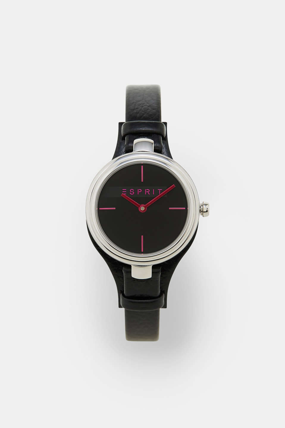 Esprit - Stainless-steel watch + leather strap