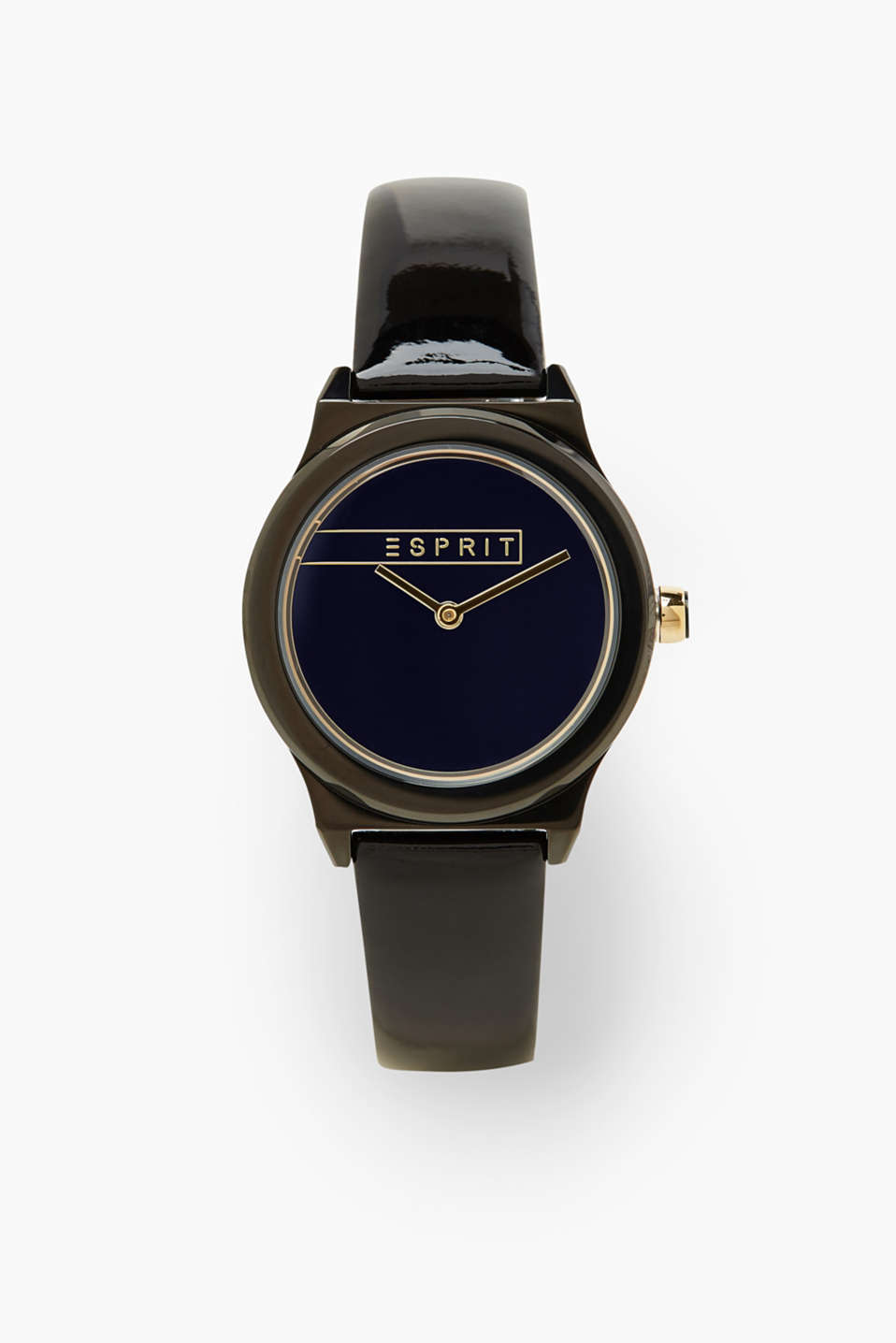 -We love plain colour looks! The high-quality patent strap and the tonal dial give this watch its look.