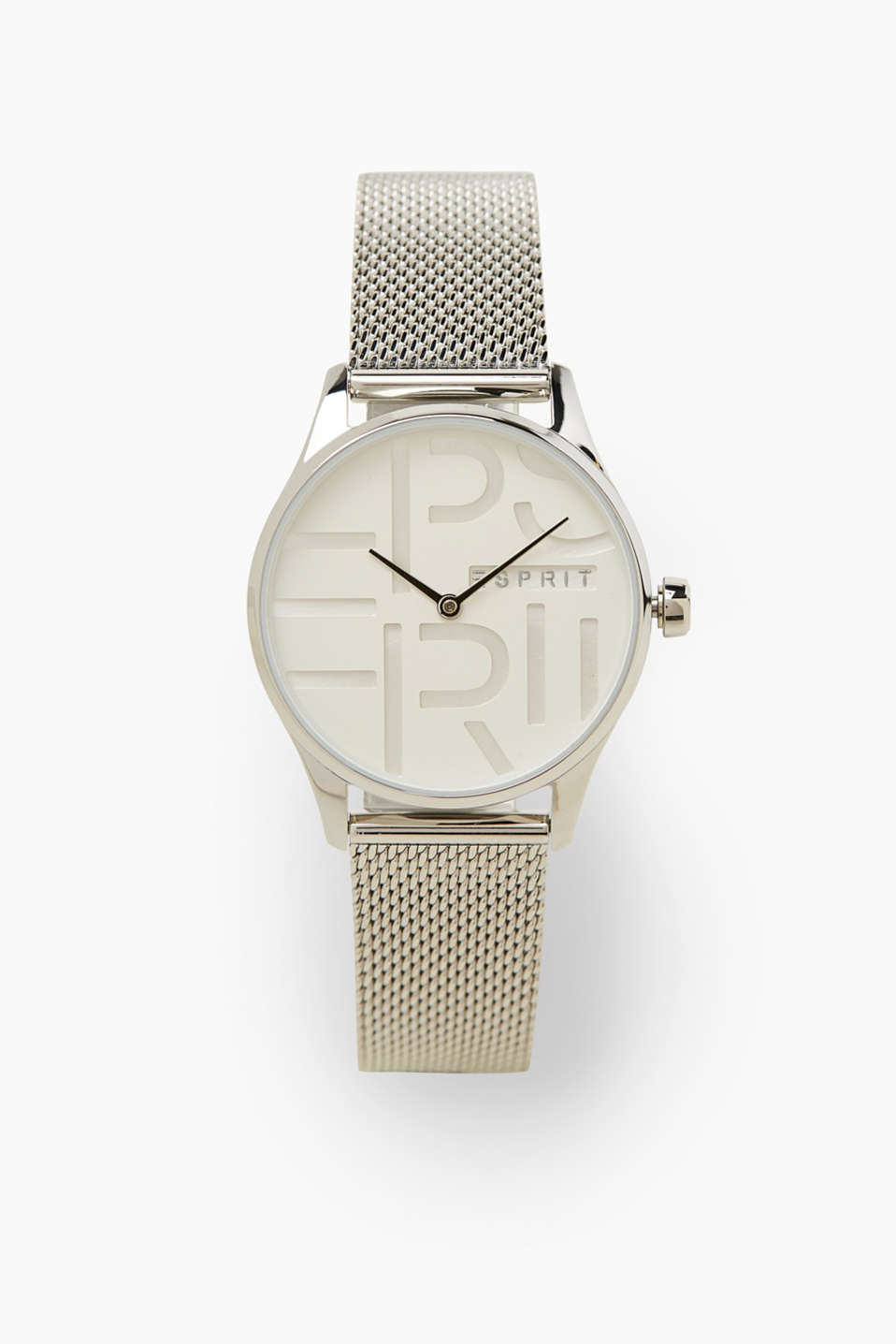 Esprit - Stainless-steel watch with a Milanese strap