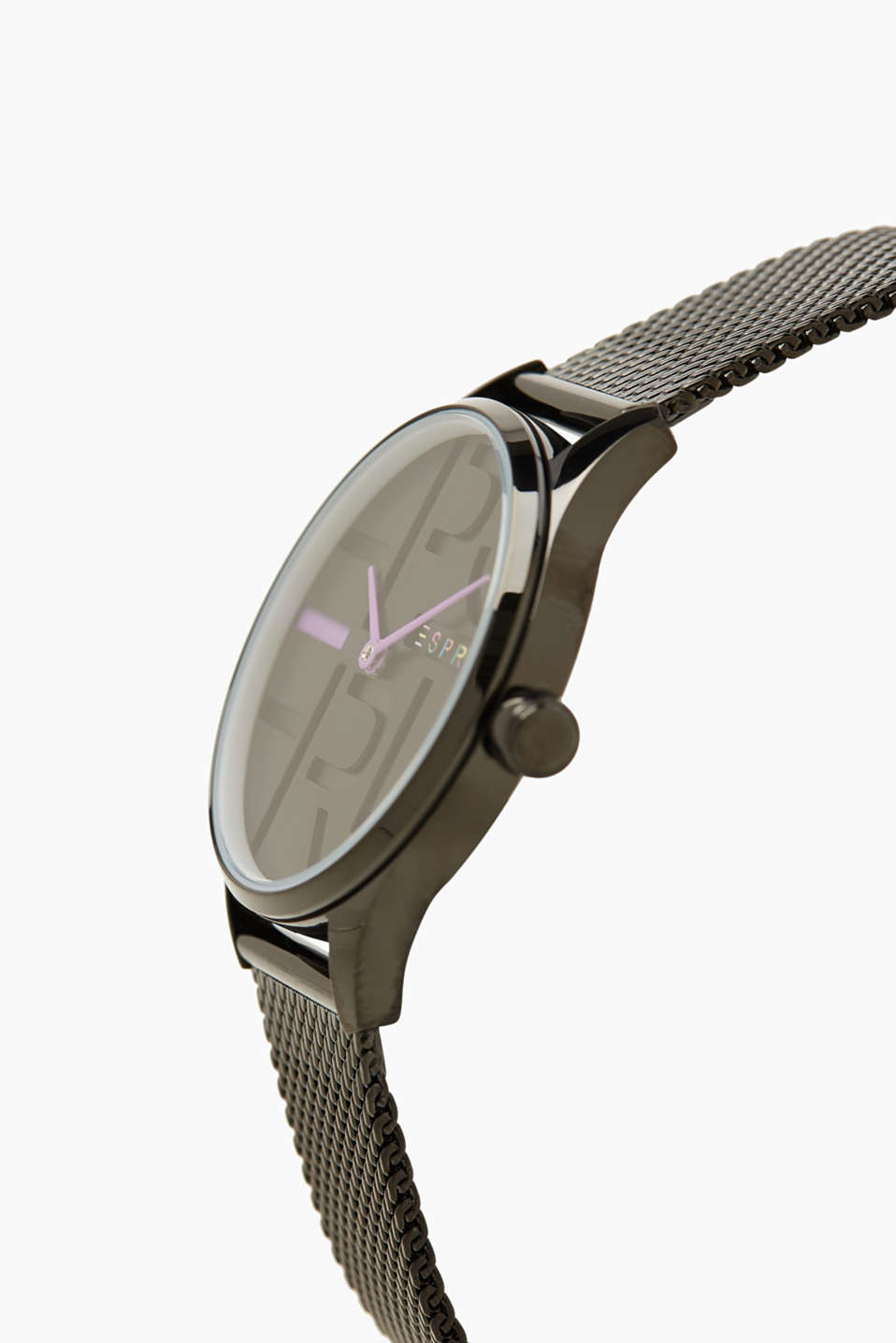 Stainless-steel watch with a Milanese strap