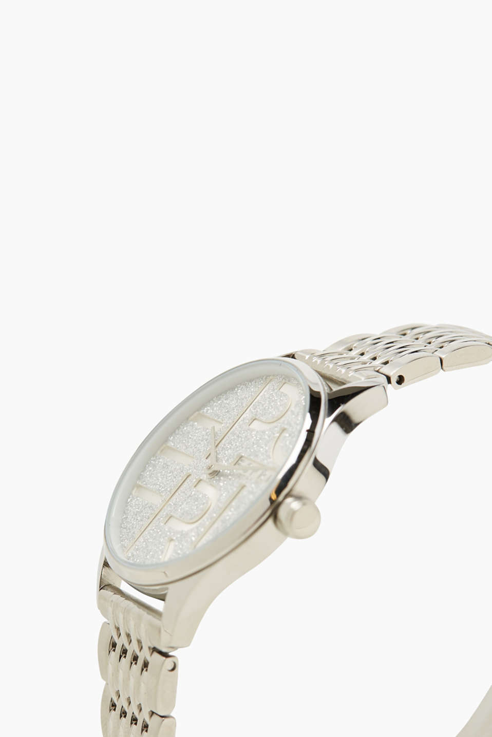 Watch with a glittering dial