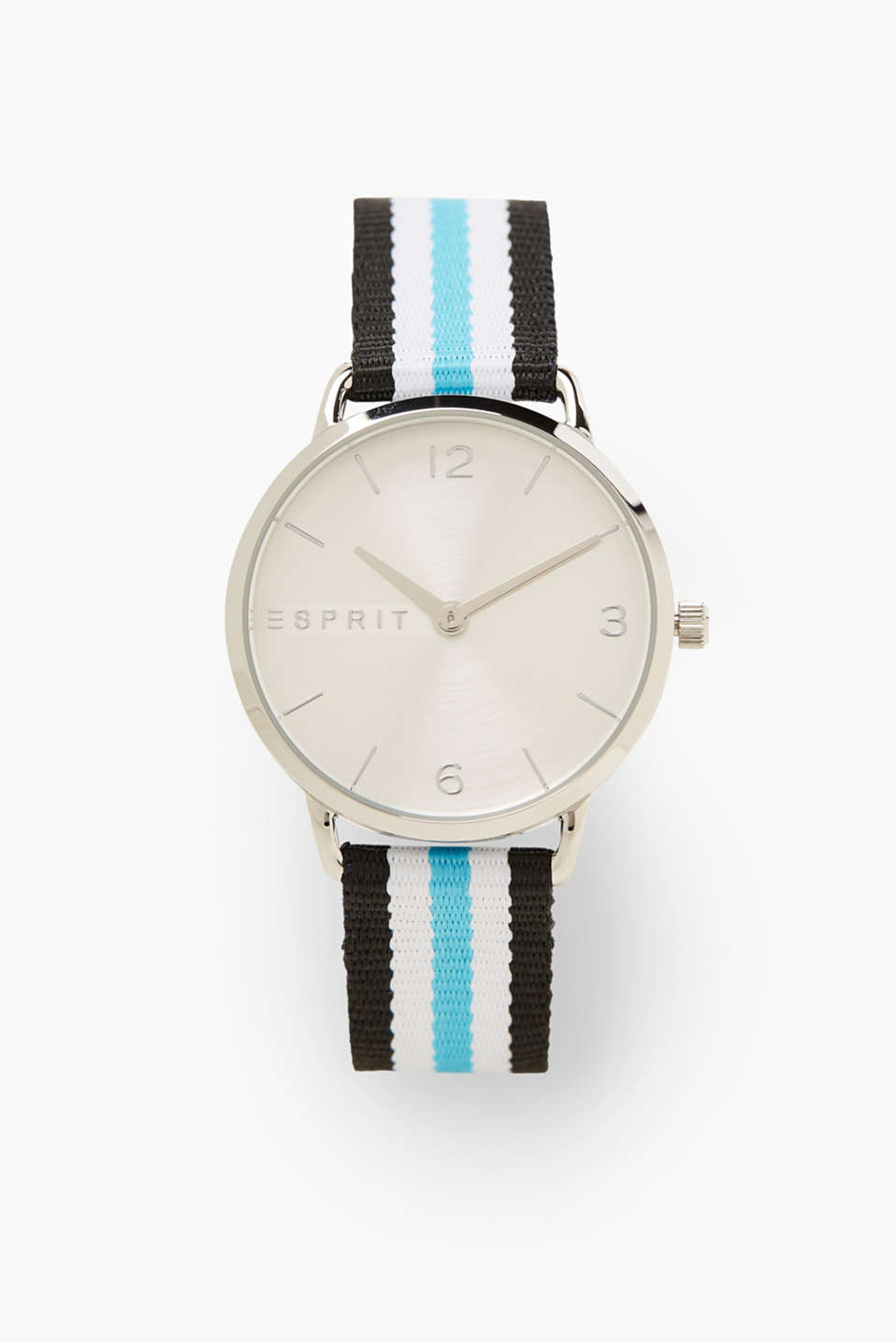 Esprit - Light stainless steel watch, striped strap
