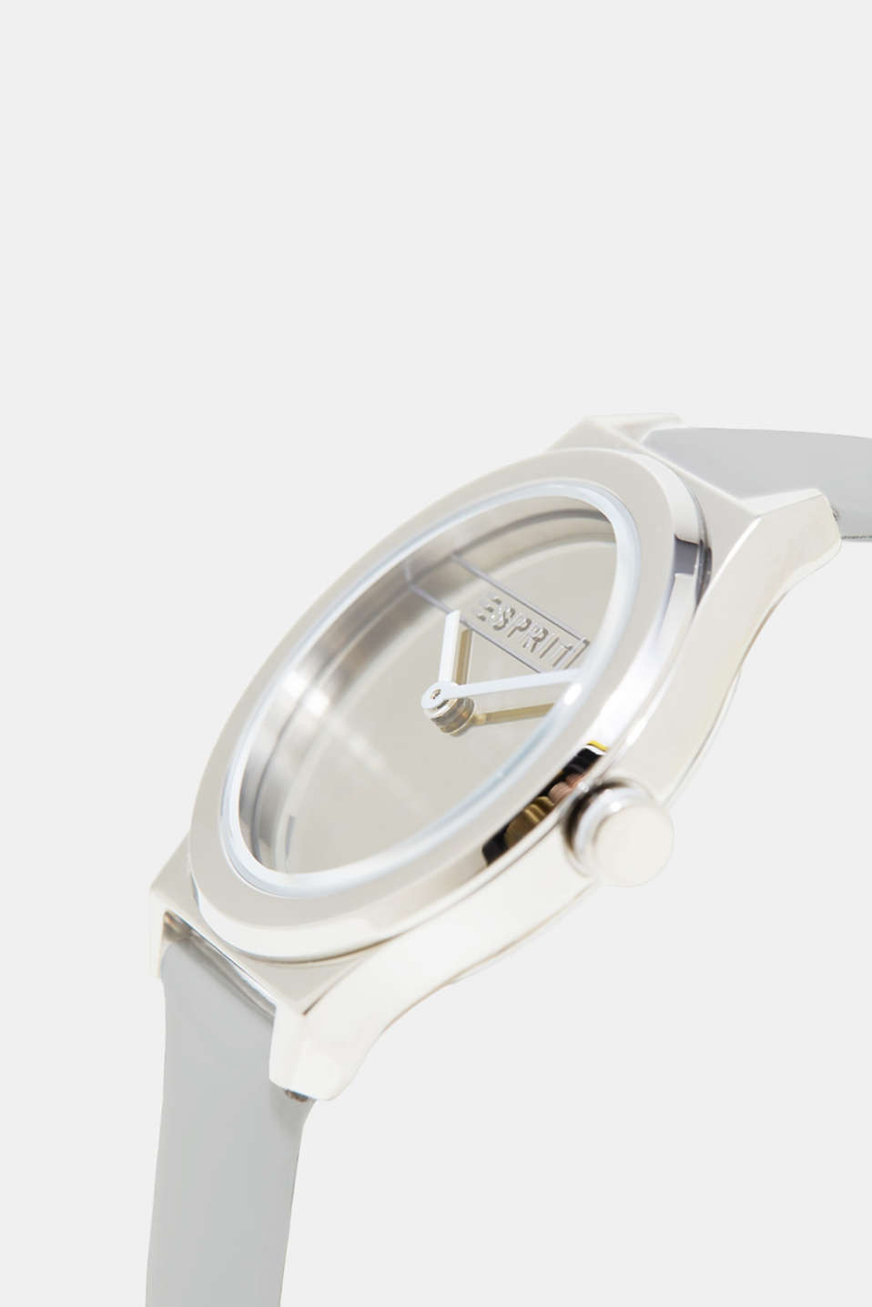 Watch with a mirrored dial