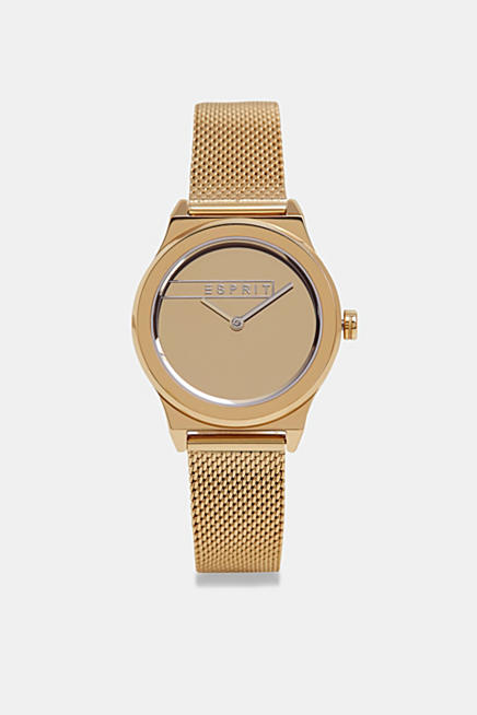 44493073c667 Stainless-steel watch with a mesh strap