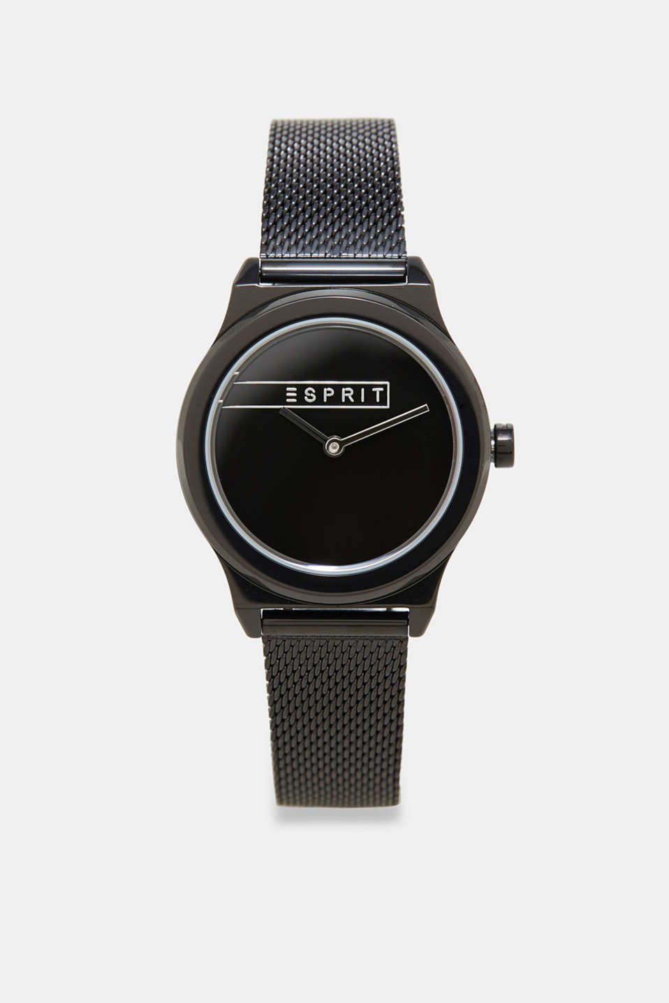Esprit - Black plated watch in stainless steel