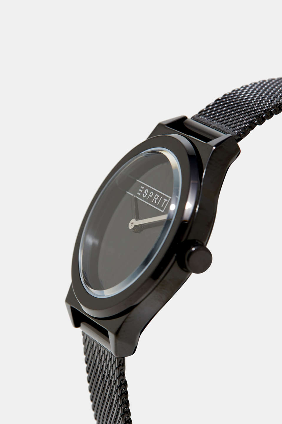 Black plated watch in stainless steel