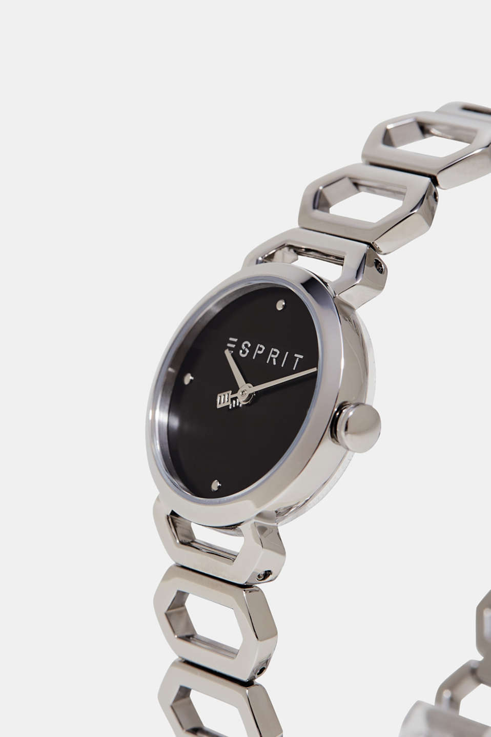 Stainless-steel watch with a link strap